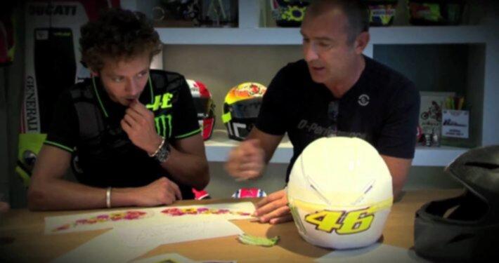 Valentino Rossi ed Aldo Drudi